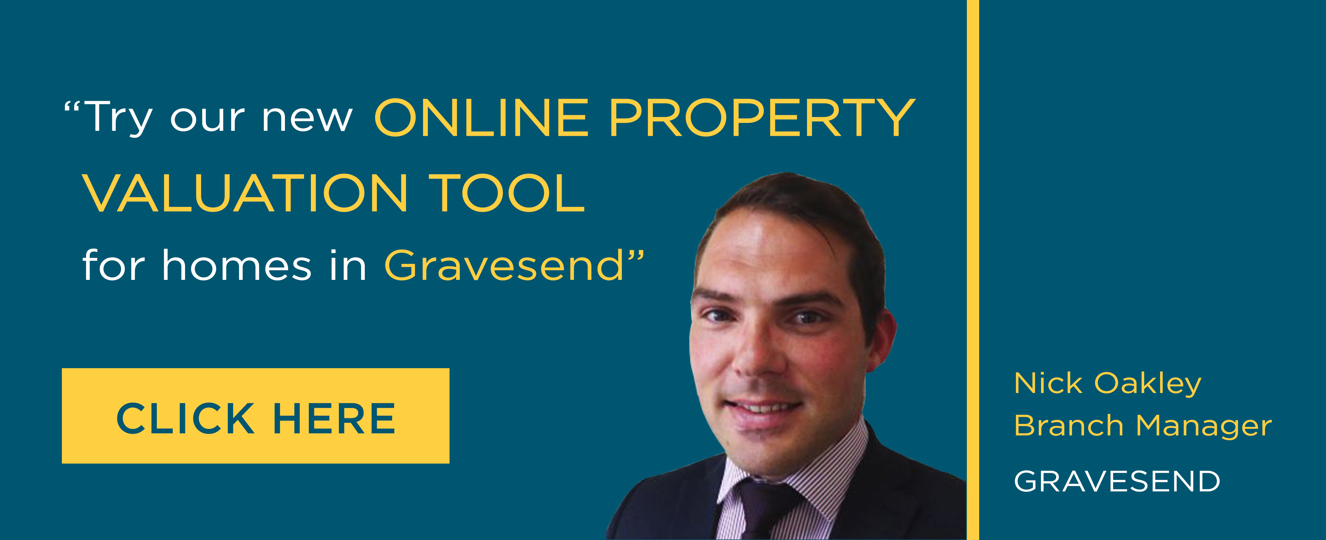 Online Valuation Tool website banner Gravesend