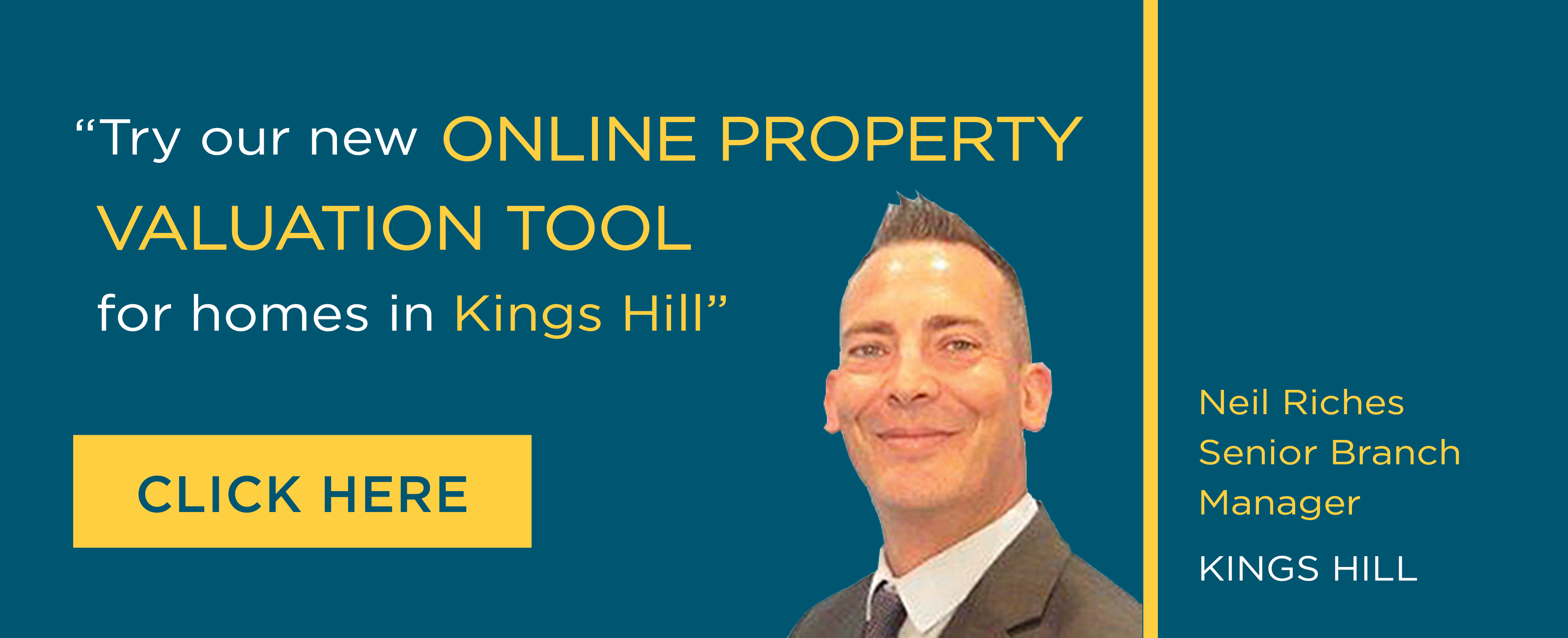 Online Valuation Tool website banner Kings Hill