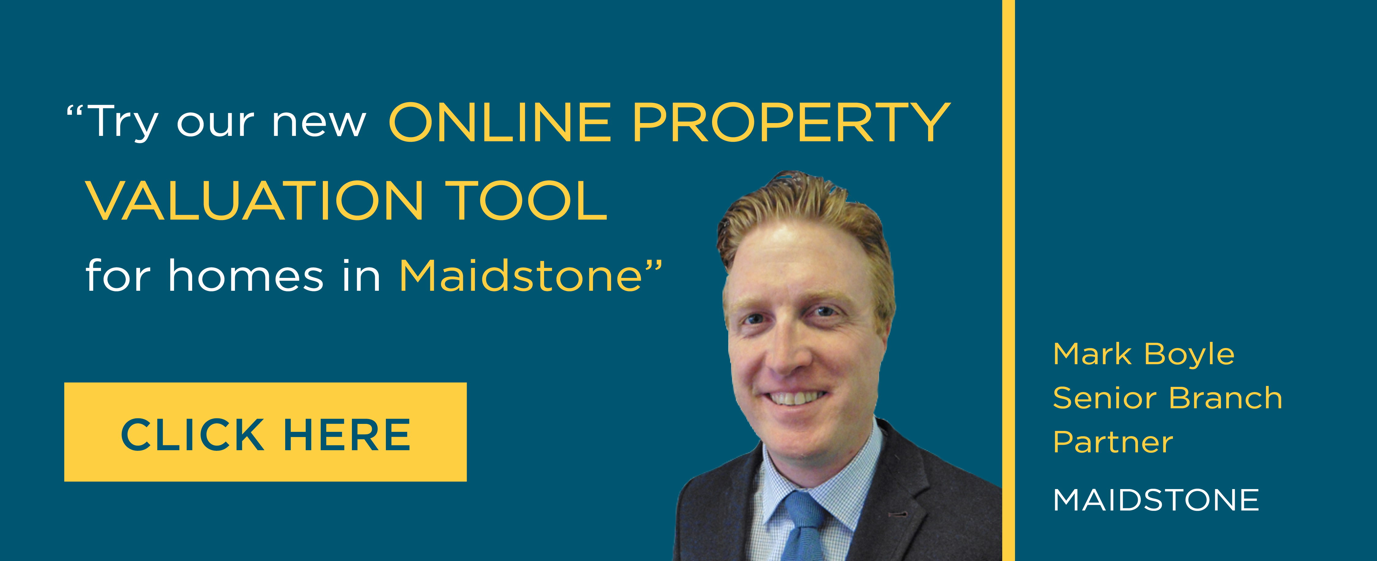 Online Valuation Tool website banner Maidstone