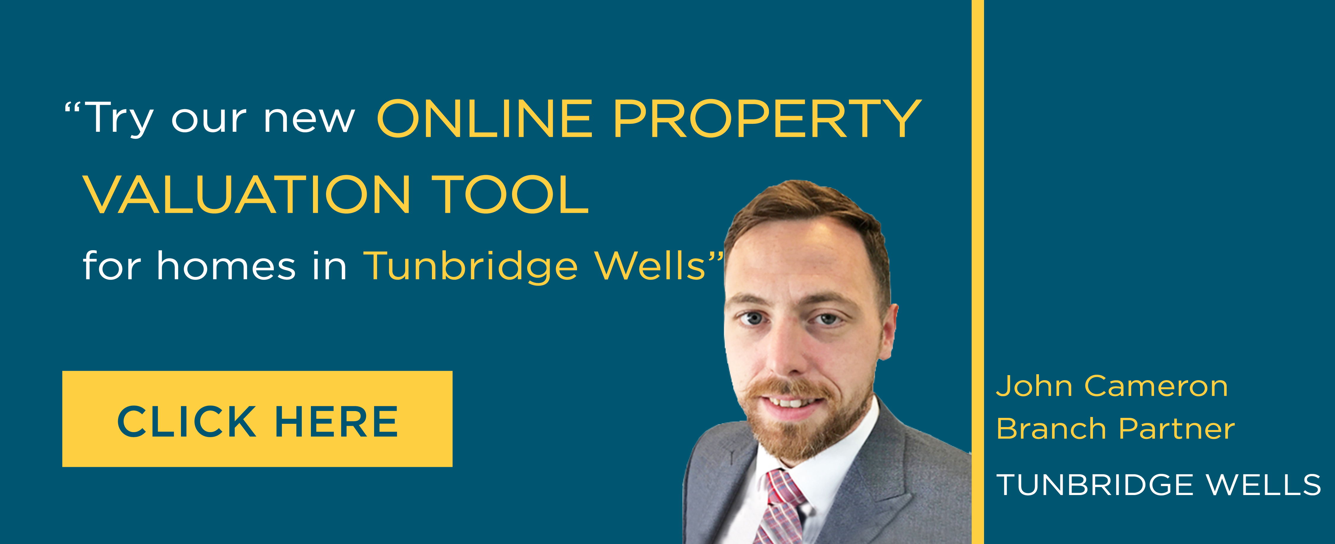 Online Valuation Tool website banner Turnbridge Wells