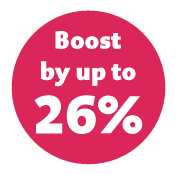 Boost enquiries up to 33%