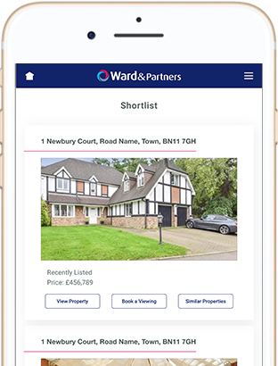 The Ward & Partners website on a mobile phone